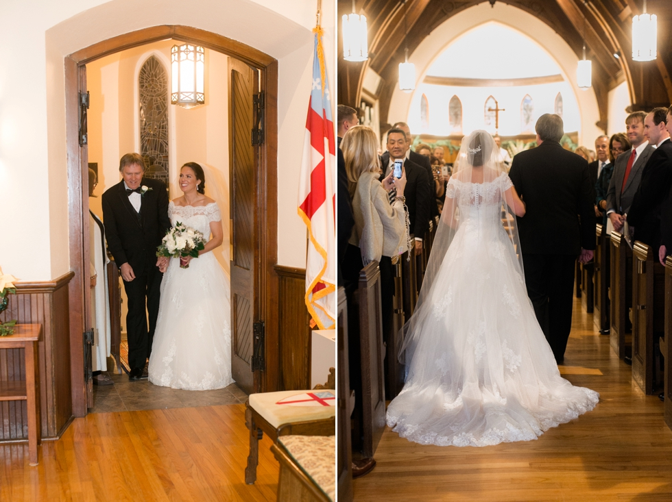 Trinity Cathedral Easton Wedding Ceremony - Associate Caitlin
