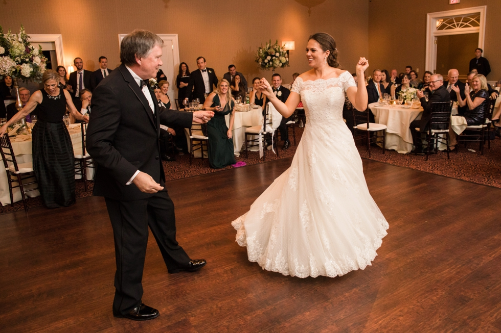 New Years Eve Wedding Reception at the Tidewater Inn - Associate Caitlin - Father Daughter Dance