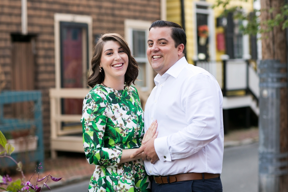 Annapolis Maryland Destination Engagement Photographer - Pinkney Alley