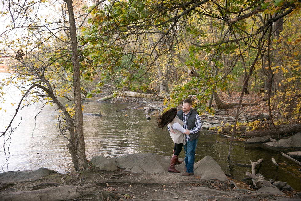 Washington DC Roosevelt Island - Engagement Photographers in Georgetown