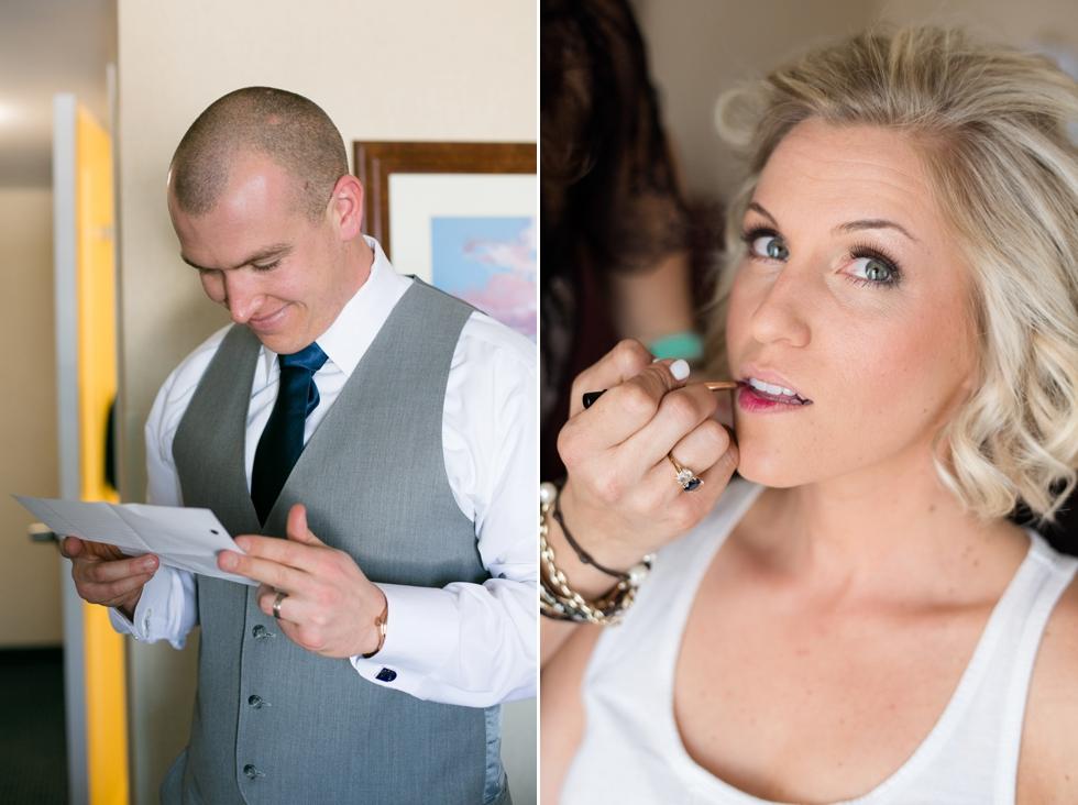 Philadelphia Wedding bridal portrait - Silver Swan Bayside getting ready