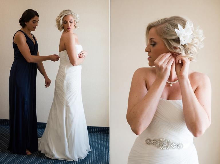Philadelphia Wedding prep - Silver Swan Bayside getting ready