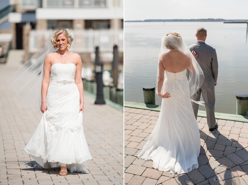 Philadelphia Wedding first look - Silver Swan Bayside destination wedding