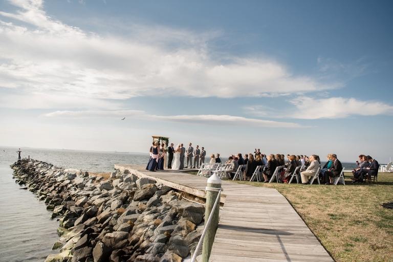 Eastern Shore Wedding Photographer - Silver Swan Bayside outdoor ceremony