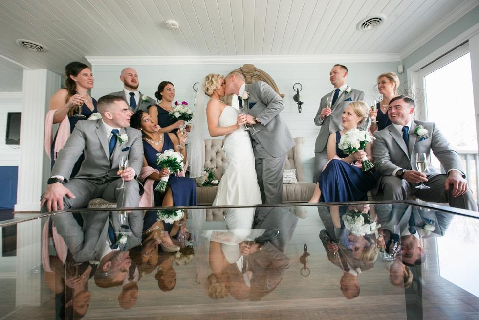 Silver Swan Bayside wedding party - Stevensville Wedding Photographer