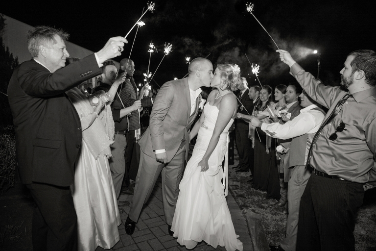 Silver Swan Bayside sparkler exit - Wedding Photographer from Philadelphia