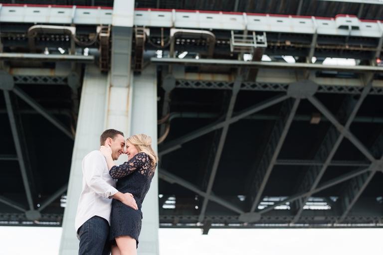 Ben Franklin Bridge Engagement Photography