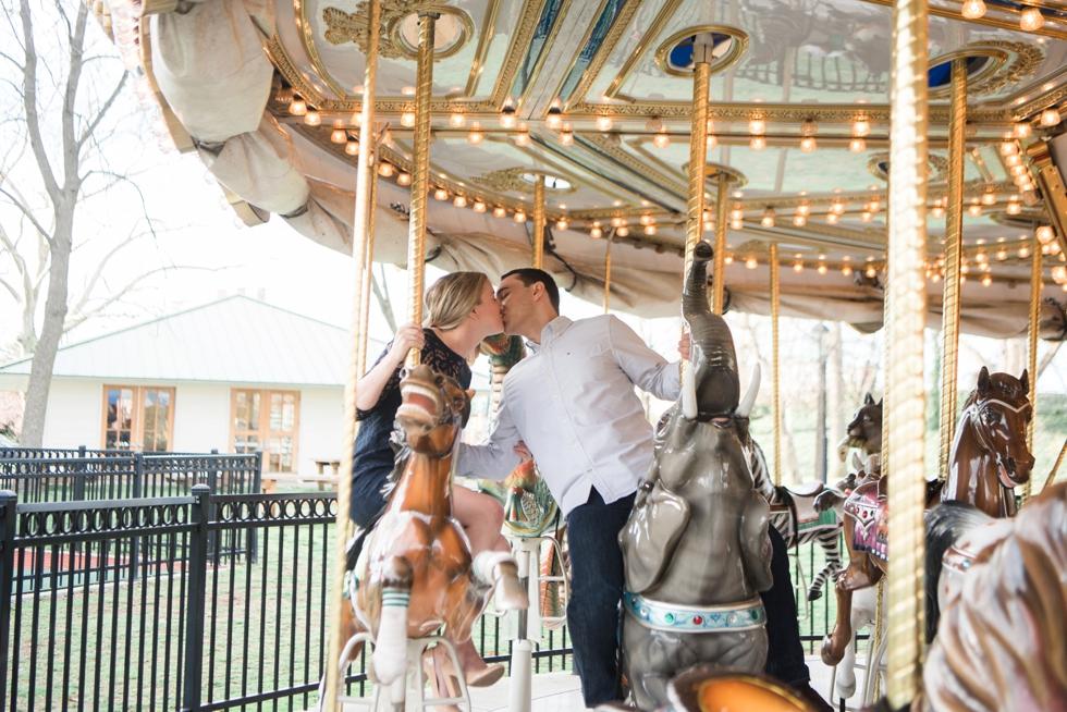 Parx Liberty Carousel - Franklin Square Park Engagement photos