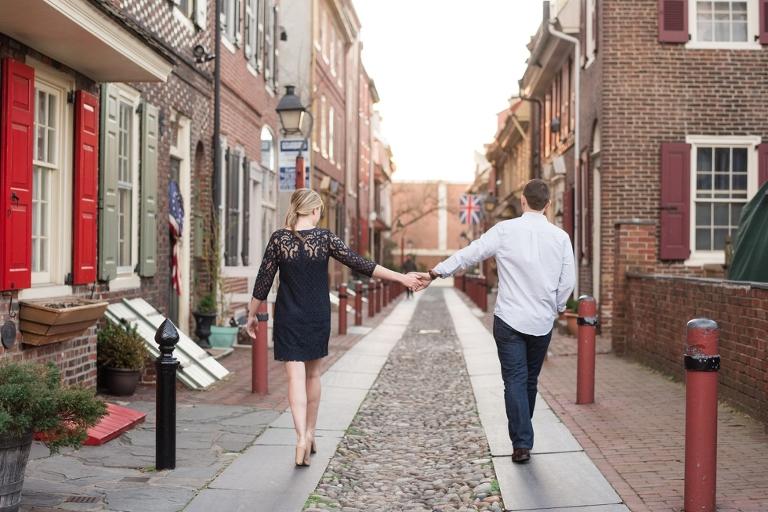 Elfreth's Alley Philadelphia Engagement Photographer