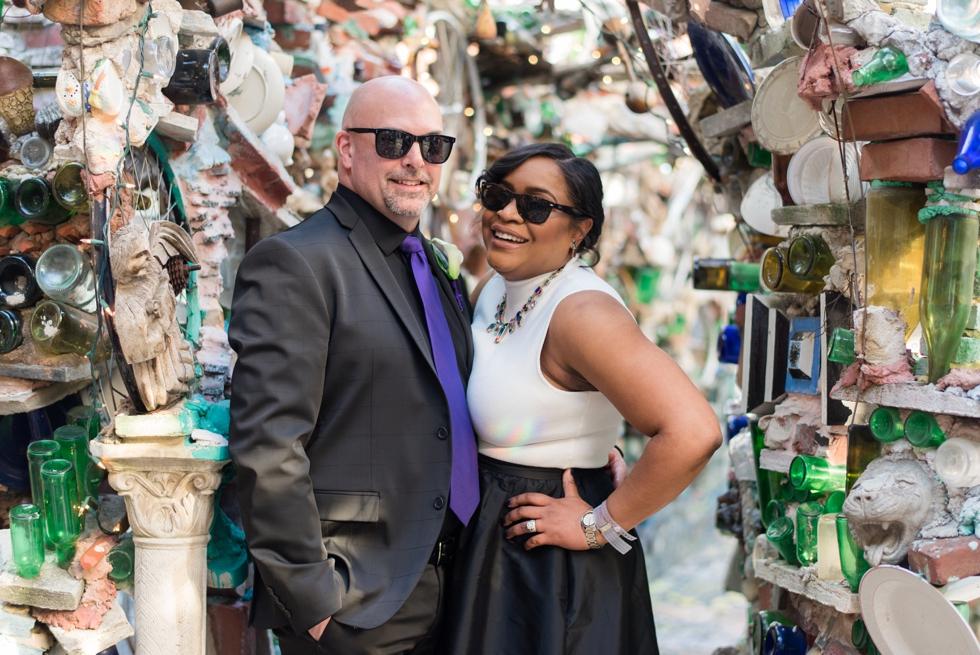 Elopement in Philadelphia Magic Gardens - South Street Wedding Photographer