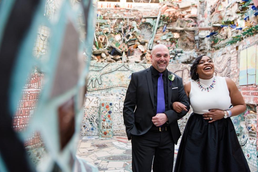 Philadelphia Magic Gardens Wedding - South Street Elopement Photographer