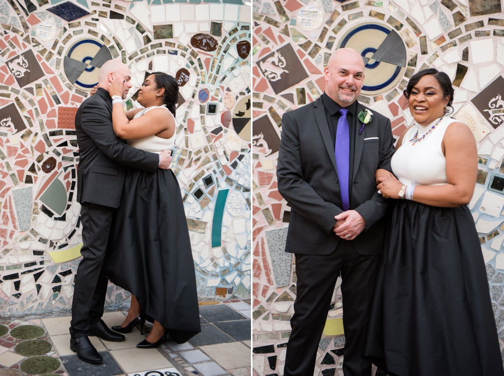 Philadelphia Magic Gardens Wedding - Philadelphia Elopement Photographer