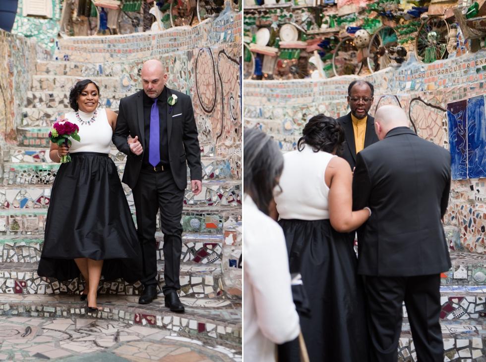 Philadelphia Magic Gardens Wedding Ceremony - Philadelphia Elopement Photographer
