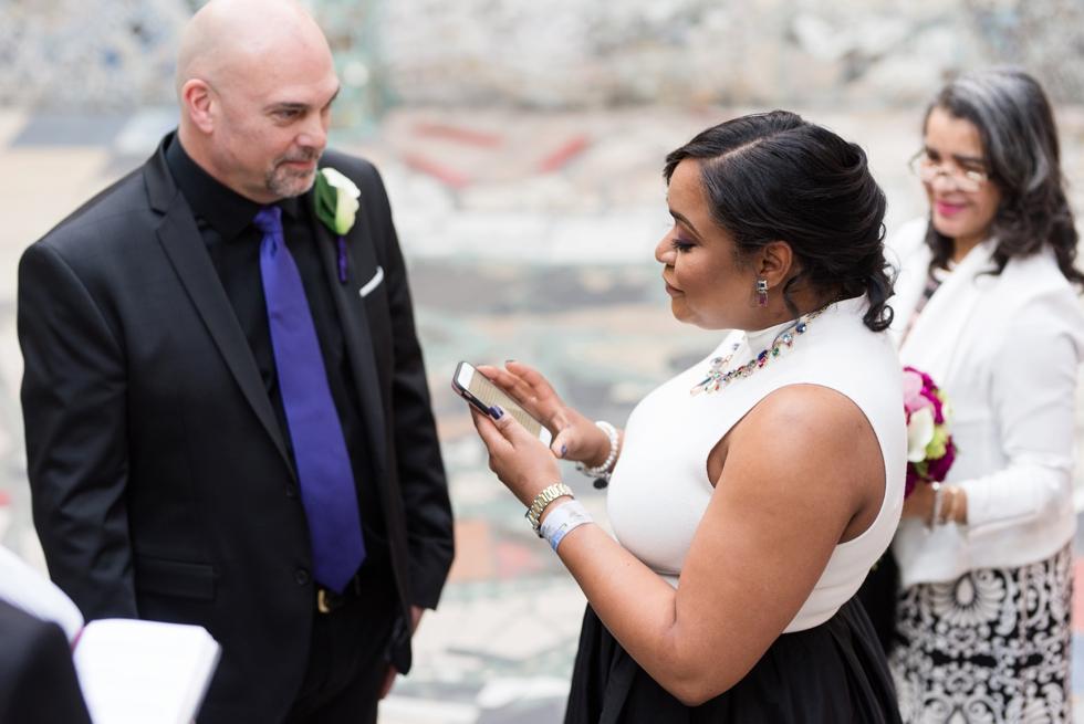Philadelphia Magic Gardens Wedding Ceremony - South Street Elopement Photographer