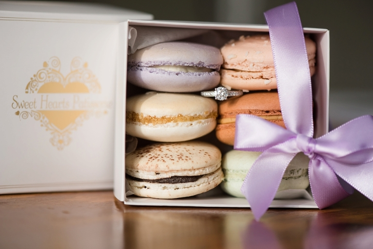 Annapolis Engagement Photographs - Macarons from Sweet Hearts Patisserie