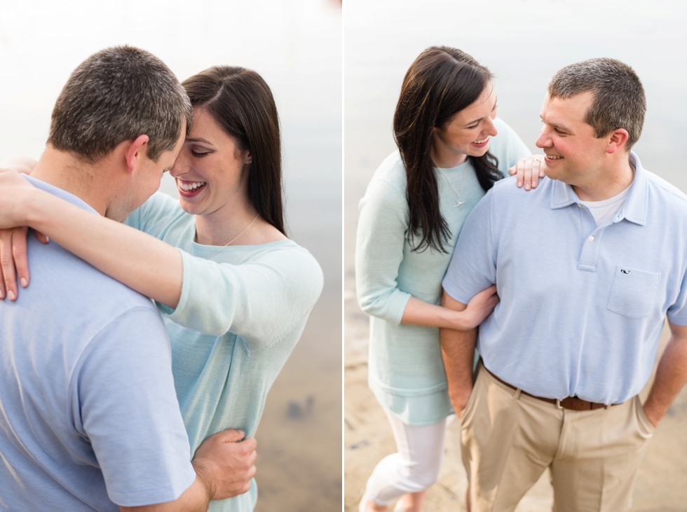 Back Creek Annapolis Maryland Engagement session - Dog in engagement photos