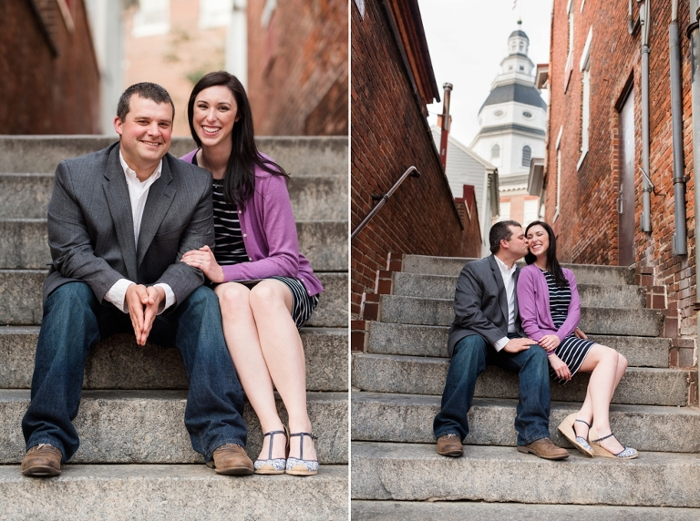 Traveling Engagement Photographer in Annapolis Maryland - Maryland State House