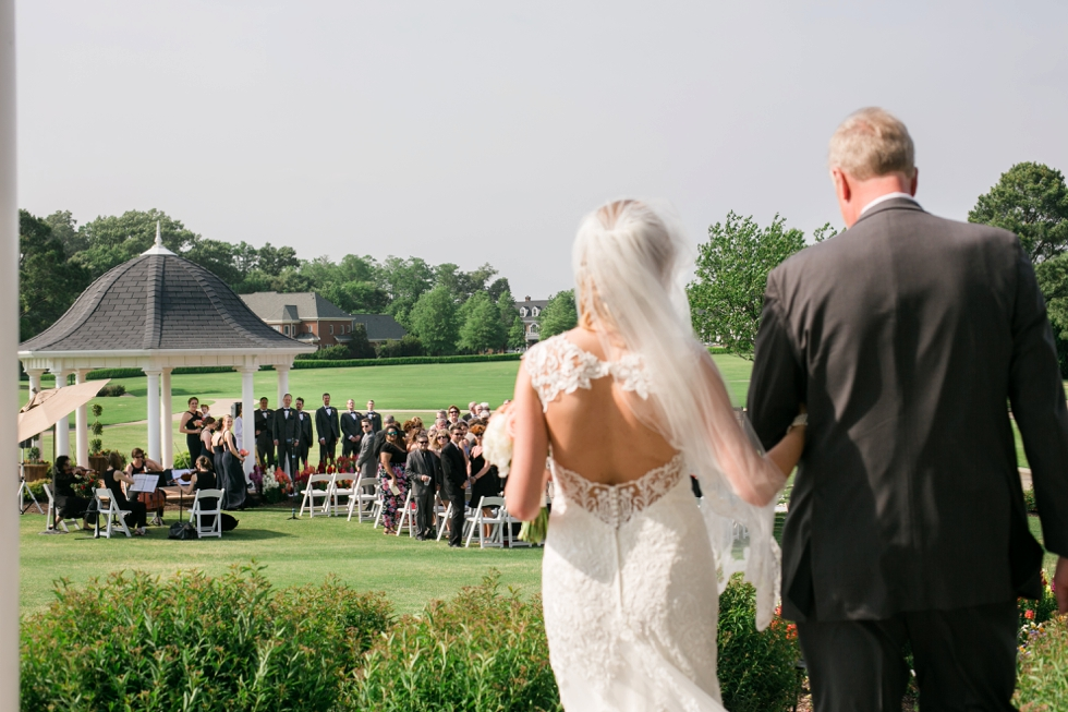 Destination Wedding Photographer in Williamsburg VA -Two Rivers Country Club Ceremony