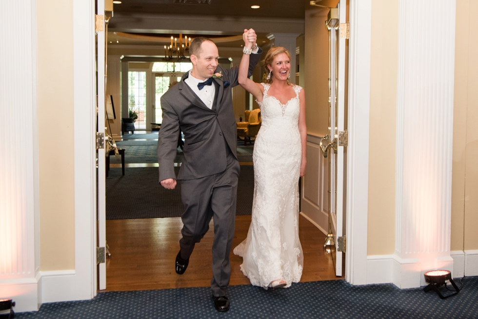 Destination Wedding Photographer in Williamsburg VA -Two Rivers Country Club Reception