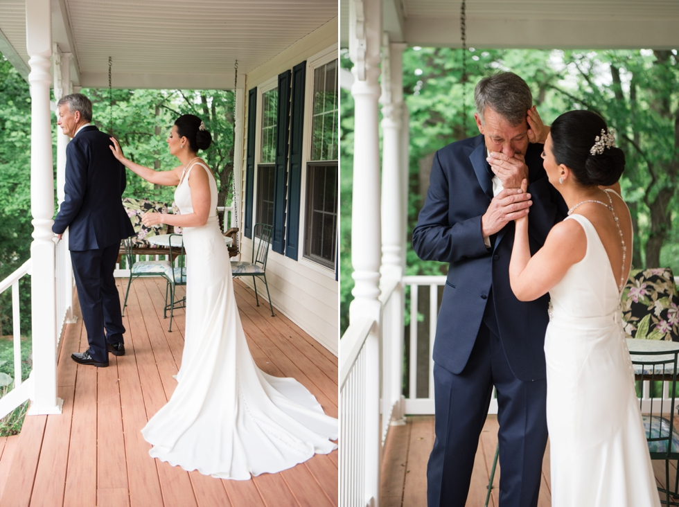 Bridal prep at Belvedere Wedding Photographs - Fathers First Look