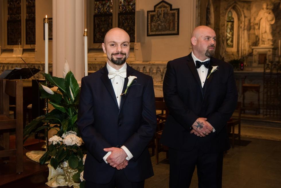Lord Baltimore hotel Baltimore wedding - Corpus Christi Church