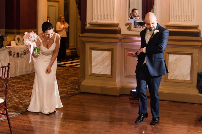 Traveling Philadelphia Wedding photographer -Belvedere & Co Events wedding reception 12th floor