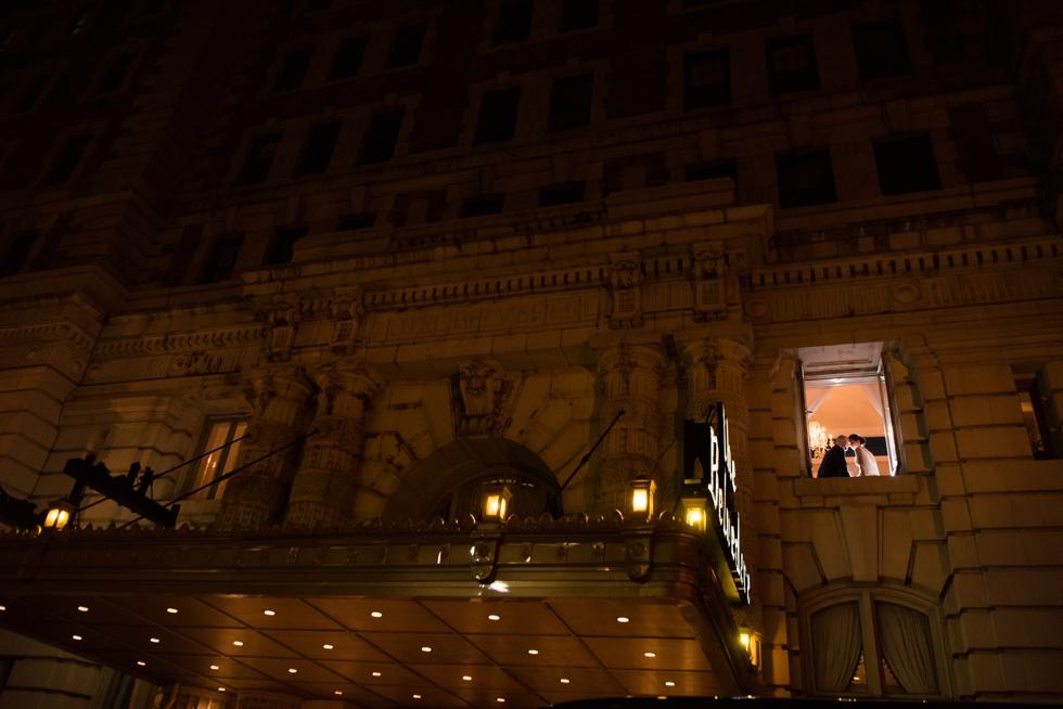 Belvedere Hotel WeddingNight Portrait - Philadelphia photographer