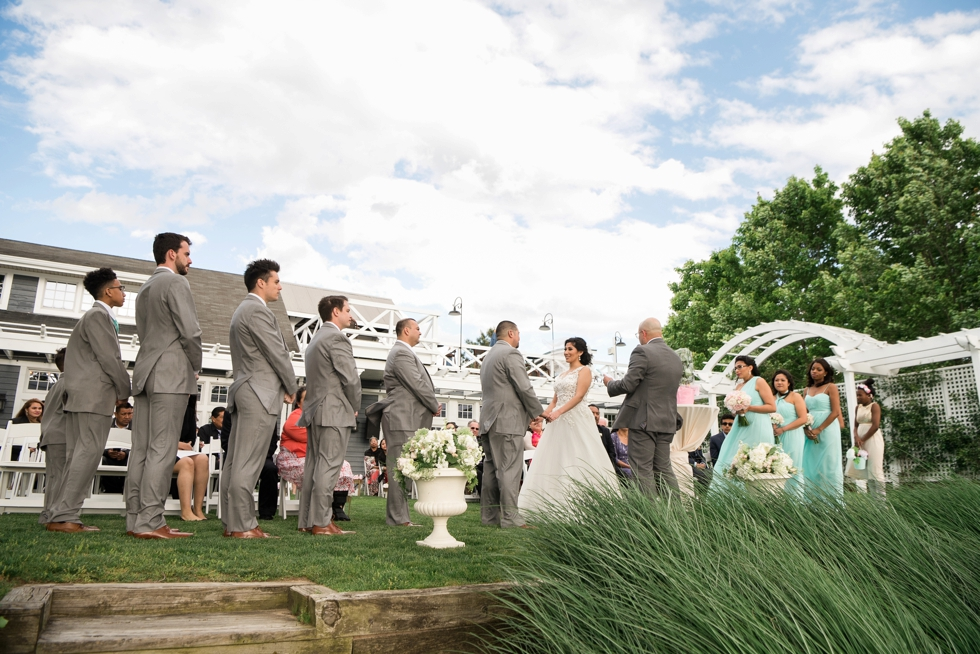 Chesapeake Bay Beach Club Wedding Photographers - Outdoor Spring ceremony