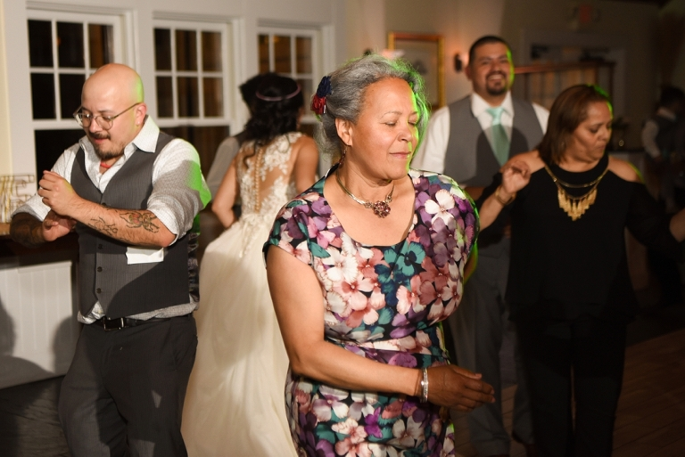 Chesapeake Bay Beach Club Wedding in Tavern Ballroom - Salvadoran Wedding Reception