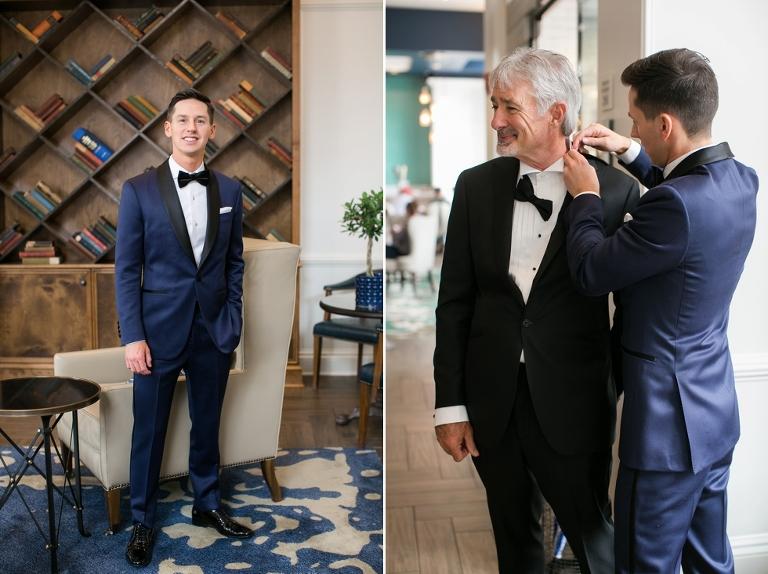 Hotel Indigo Wedding Photography - Donovan England Custom Tux