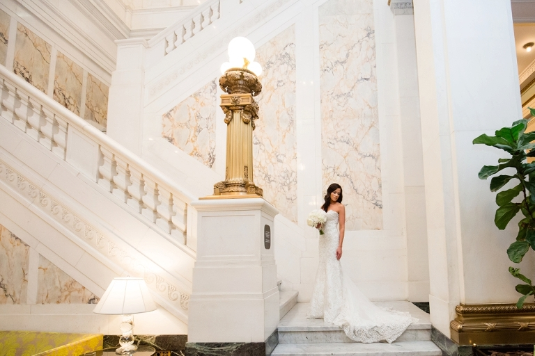 Hotel Monaco Wedding Photos - Madison James Bridal Gown