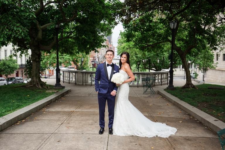 Mount Vernon Wedding Photography - Peabody Library Wedding Portraits