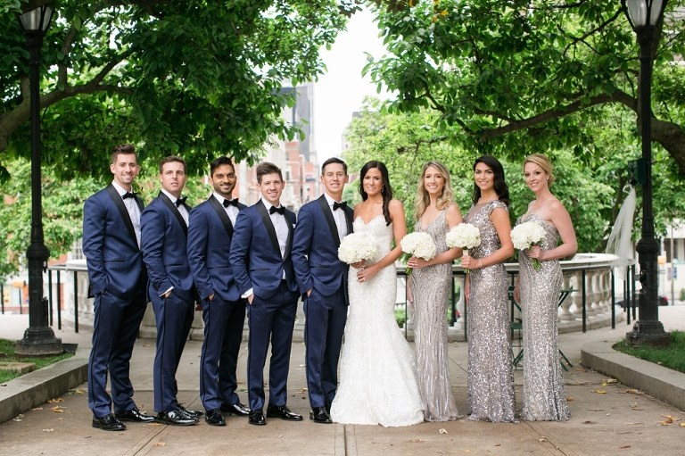 Mount Vernon Wedding Photographers - Donovan England Tux - Madison James Bridal Gown