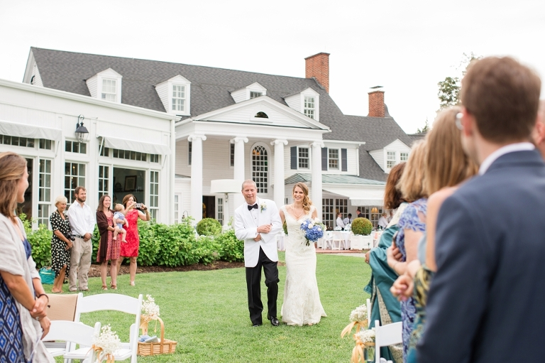 Inn At Perry Cabin Wedding Ceremony In St Michaels Maryland