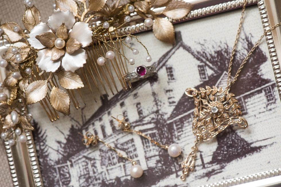 Golden Pheasant inn Wedding - Bridal Prep in New Hope PA