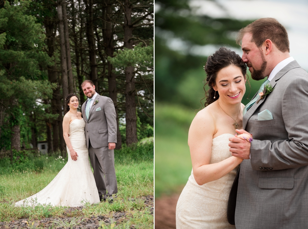Bucks County Wedding Photographer - Sand Castle Winery Wedding First Look