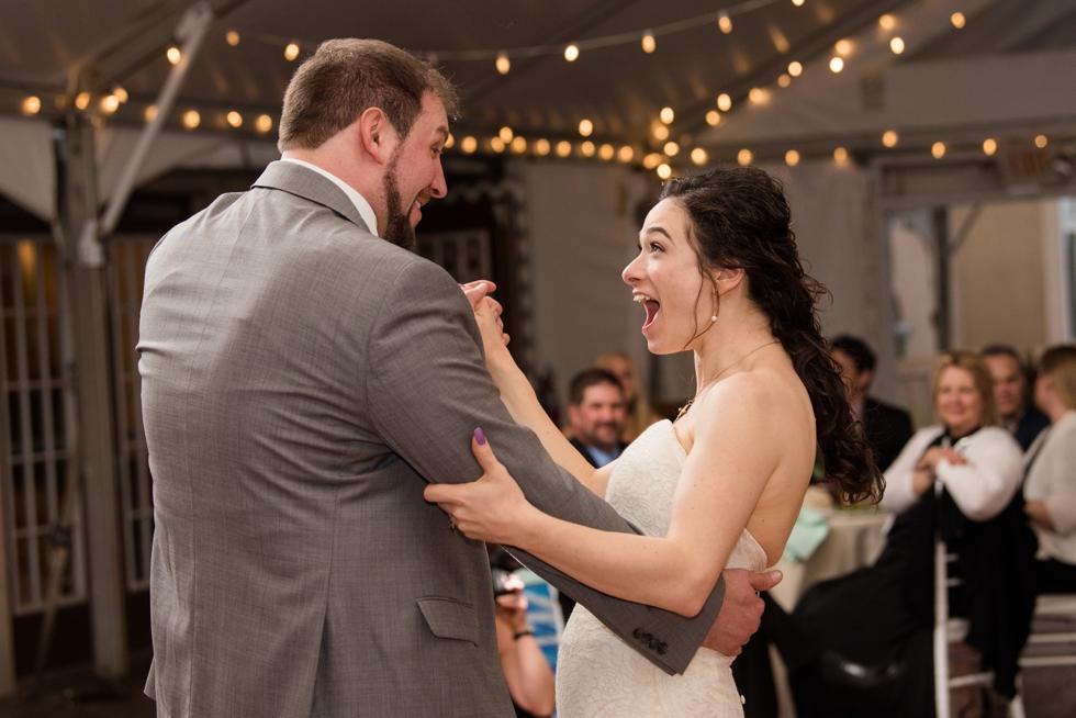 Sand Castle Winery Wedding Reception in Bucks County