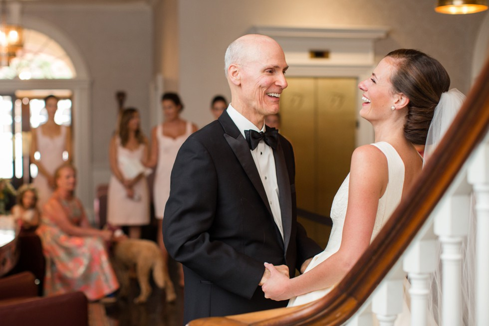 Easton Maryland Wedding Venue - Tidewater Inn Father daughter first Look