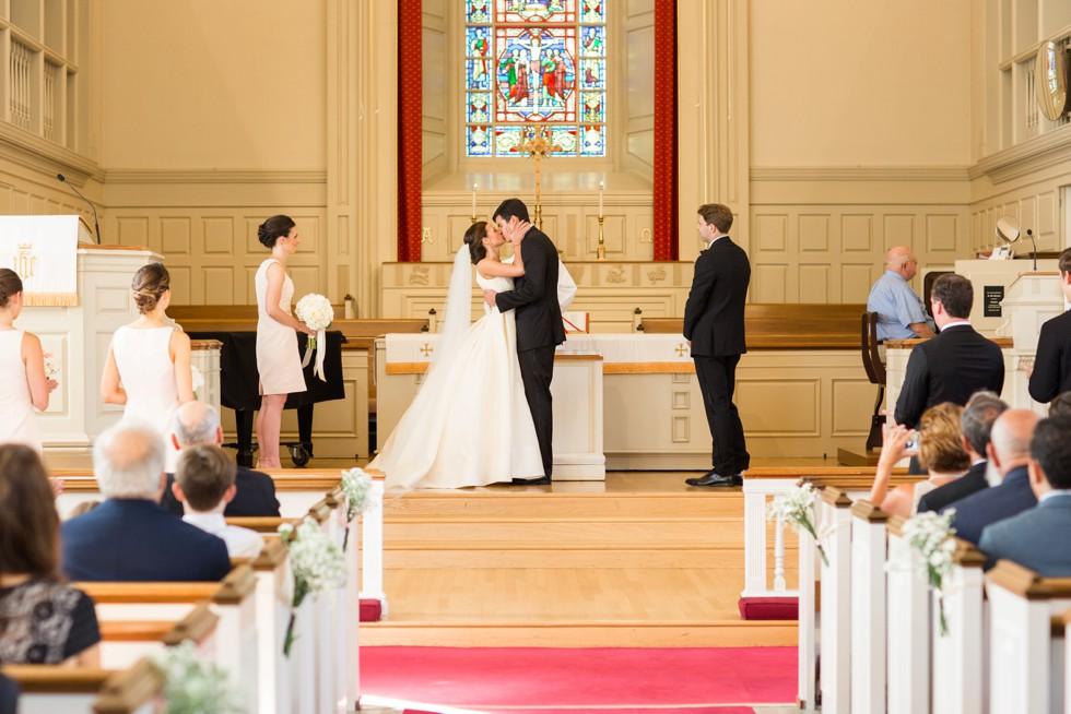 Easton Maryland Wedding Venue - Easton Methodist church Ceremony