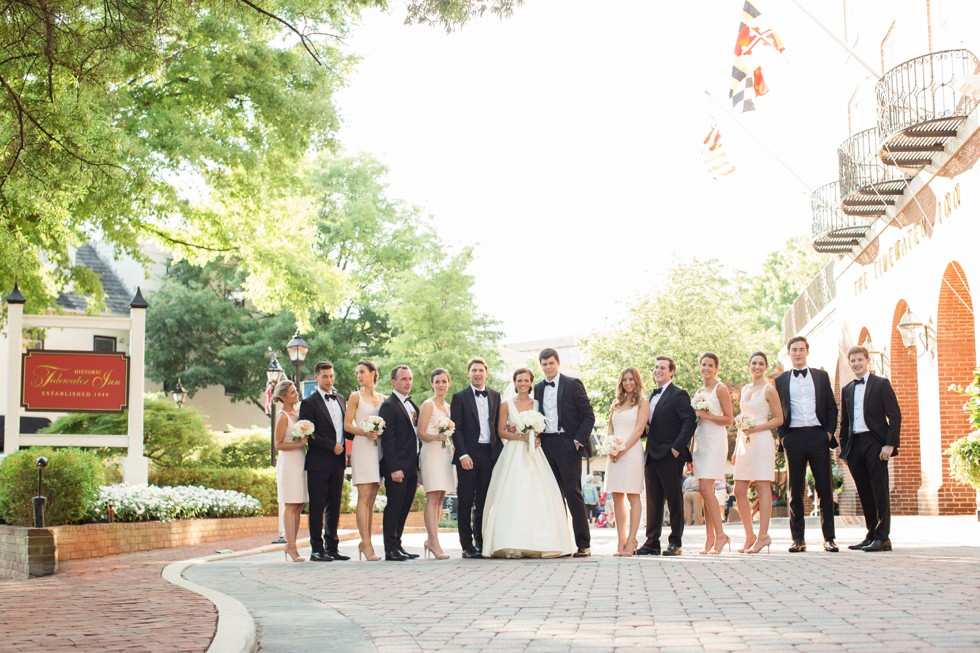 Wedding party in Eastern Shore Maryland pet Friendly