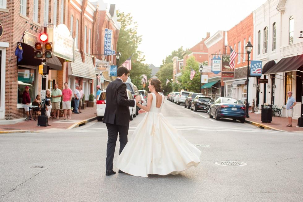 Wedding photo at Tidewater Inn Eastern Shore Sunset