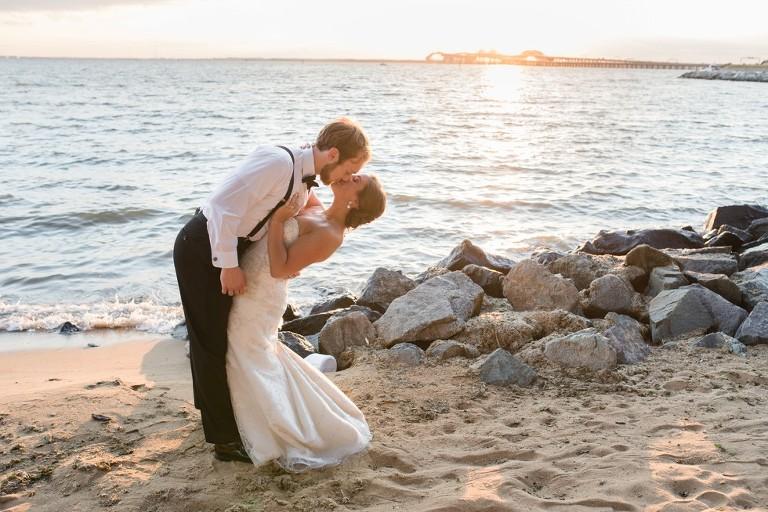 Wedding at the Chesapeake Bay Beach Club Sunset Ballroom in Maryland