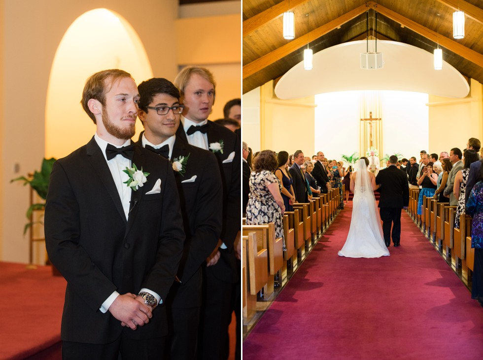 Indoor Church wedding Ceremony at St. Piux X