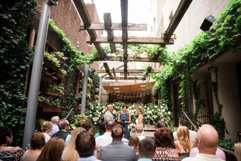 wedding ceremony at talulas garden - Talulas Garden