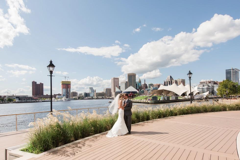 Four Seasons Hotel wedding photos in a martina liana bridal dress, groom wearing a M. Stein & Company Tuxedo