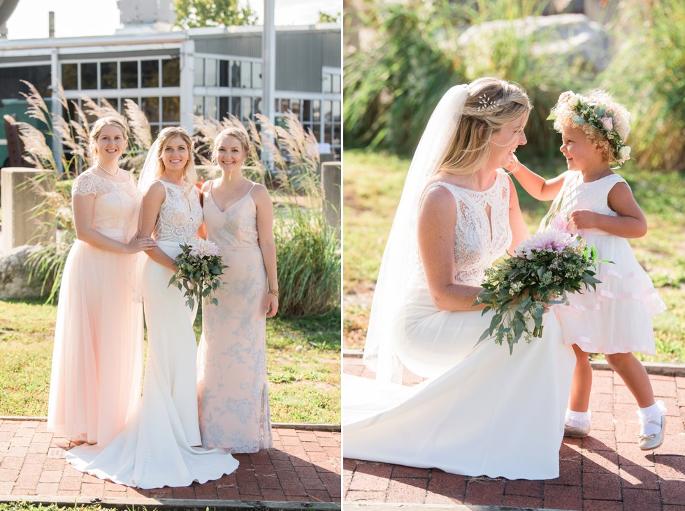 Bridal party at Baltimore Museum of Industry
