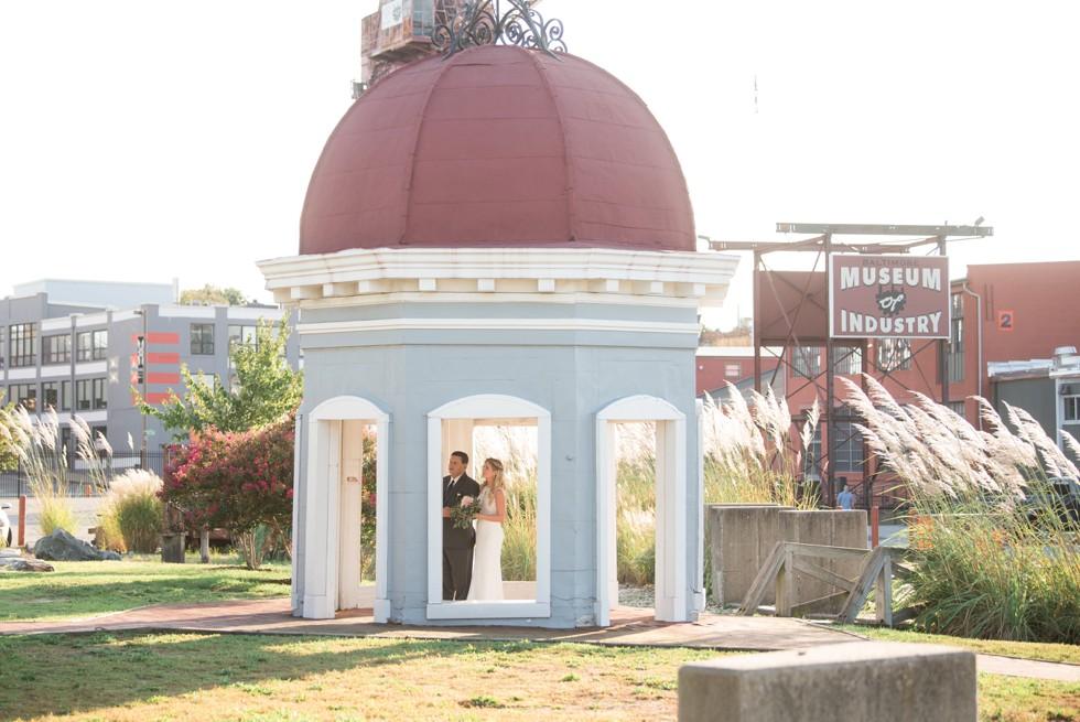Baltimore Museum of Industry wedding ceremony overlooking the Baltimore Harbor