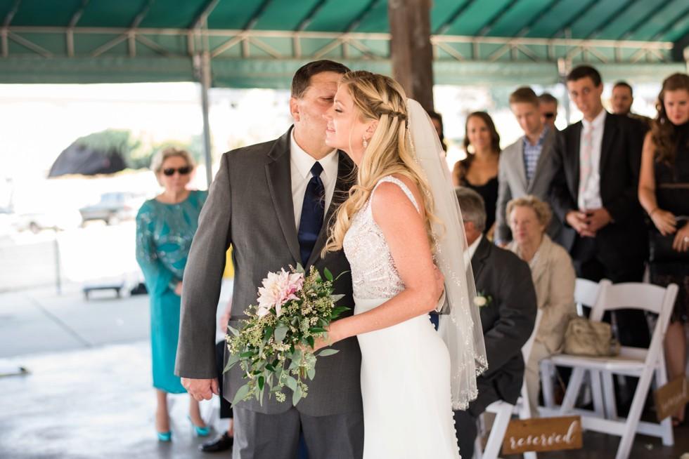 Wedding ceremony overlooking the Baltimore Harbor