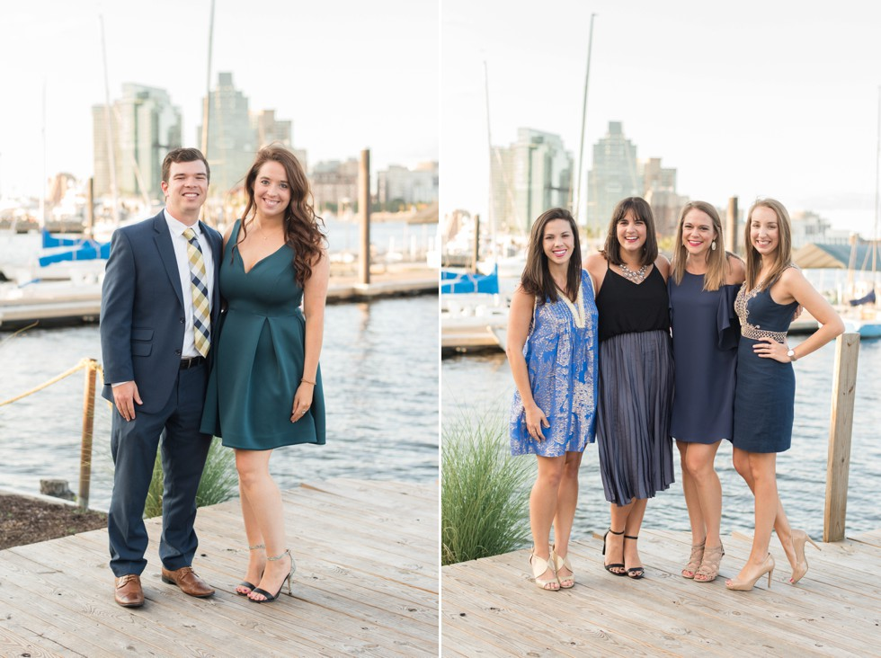 wedding guests and past wedding couple at Baltimore Museum of Industry