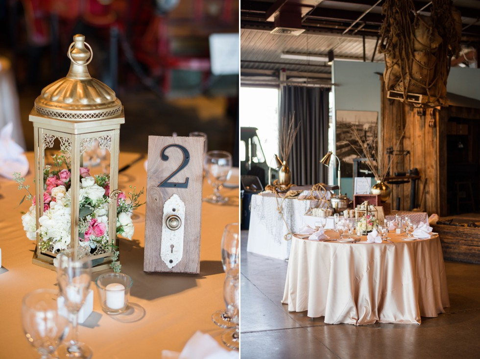 DIY table decorations at BMI wedding Scentsational Florals